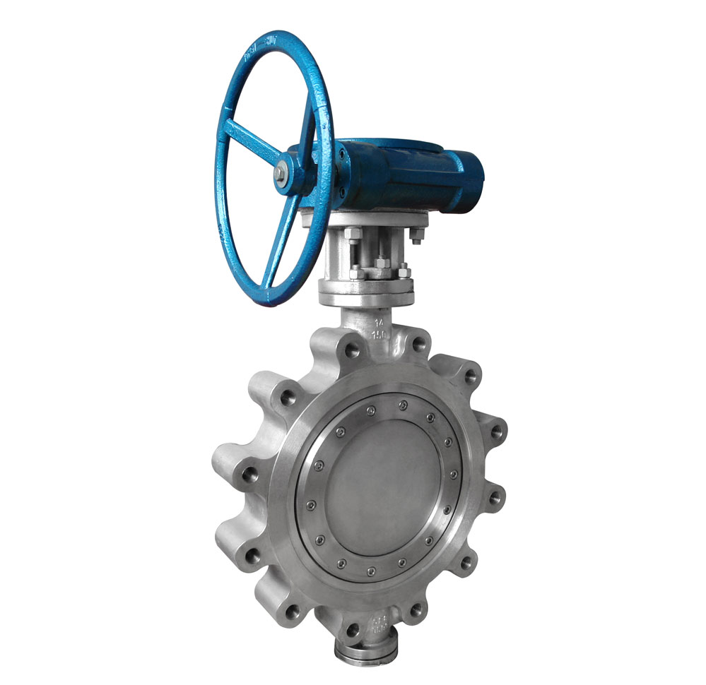 Triple offset lug butterfly valve
